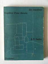 ESQUISSE D'UNE THEORIE DES EMOTIONS 1965 SARTRE ILLUSTRE