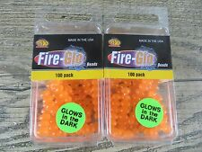 "200 - 8 MM (5/16"") SOFT FLOATING FIRE-GLO BEADS - FLOATING EGGS - ATTRACTOR BEAD"
