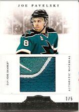 Joe Pavelski 2011-12 Dominion Brand Logos Patch Card #1/5