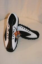 OAKLEY MENS GOLF SHOES ~ BLACK AND WHITE ~ SIZE 9 ~ NWT