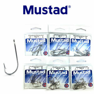 Mustad O'Shaughnessy Hook Stainless Steel 34007-SS Fishing Hook Select Size