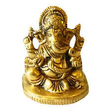 Figura latón Ganesha 6,5 cm dios elefante amuleto artesanía India decoración