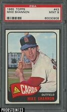 1965 Topps #43 Mike Shannon St. Louis Cardinals PSA 9 MINT