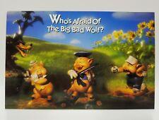WDCC Disney Post Card Three Little Pigs Who's Afraid Big Bad Wolf 6x9
