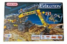 New, Erector Evolution Meccano Real Metal 2-in-1, 485 Parts, Real Mechanics,1Set