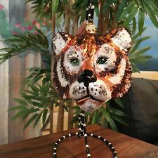 Slavic Treasures - Retired Glass Ornament - Large Tigress - 1999