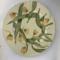 """Theodore Haviland Limoges France Hand Painted Yellow Flowers 8 1/2"""" Plate"""