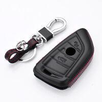 Genuine leather car Remote smart Key Fob Case cover BMW X1 X5 X6 X6M 7 series