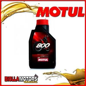 MOTUL8 - FLACONE 1 LITRO OLIO MOTUL 800 2T FACTORY LINE OFF ROAD 100% SINTETICO