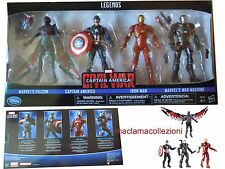 Disney Store MARVEL LEGENDS CAPTAIN AMERICA CIVIL WAR 4 supereroi IRON MAN raro