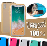 Waterproof Shockproof Hybrid Rubber TPU Case Cover For iPhone XR XS Max 8 7 Plus