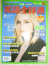 MADONNA - What's New (2002) very rare TAIWAN MAGAZINE :CD/DVD/Photo/Picture