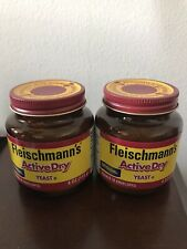 New listing New Fleischmann's Active Dry Yeast - 2 Jars Of 4 Ounces Each. Fast Shipping!