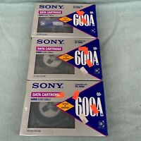 """Sony Data Cartridge QD-600A Lot of 3 New Old Stock 60 MB DC-600A Made Japan 1/4"""""""