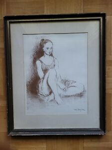 MOSES SOYER, YOUNG DANCER LITHOGRAPH SIGNED