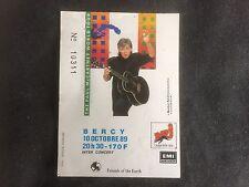 Billet CONCERT Ticket Paul McCARTNEY - Paris Bercy octobre 1989 -