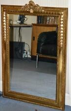 """Antique French Louis XVI Style Gilded Mirror 42"""" H Made in Belgium [PL3340]"""