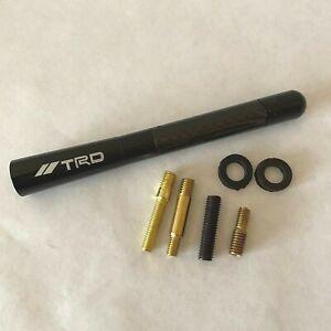 T R D 4.7 Inch Car Antenna Carbon Fiber Aluminum Black