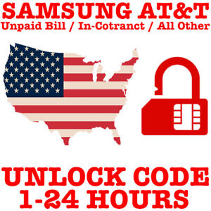 AT&T UNLOCK CODE SERVICE FOR SAMSUNG GALAXY S9 S8 NOTE 8 NOTE 9 NOTE 10 10+ PLUS