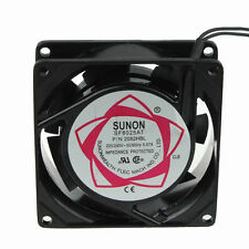 Ball Bearing 8cm 80mm AC 220V 240V 80x25mm Industrial Metal Cooling Fan 2 wire