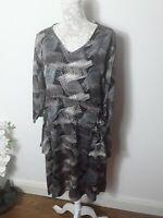The Masai Clothing Company viscose lagenlook dress large sleeve print