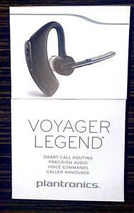 Plantronics Voyager Legend Bluetooth Wireless Headset Voice Commands Black NEW