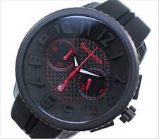 Tendence Gulliver Mens Black Dial black PU Strap Watch 02046018