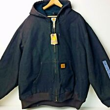 Deadstock CARHARTT J130 Brown Duck Work Coat Jacket Size 4 XL Reg