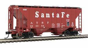 HO Scale - WALTHERS 910-7953 SANTA FE 37' 2980 CU FT 2-Bay Covered Hopper Car
