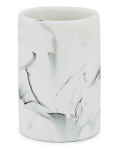 Kassatex Arabesco Injected Resin Simulated Marble Look Tumbler - White / Black