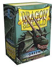 100 PROTECTIVE SLEEVES Green Verde MTG MAGIC Dragon Shield