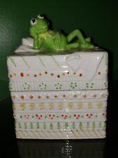 "Kermit The Frog Ceramic Box 5X4"" Sigma Tastesettler Vintage 1978 Henson Japan"