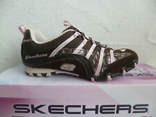 Skechers Girls Slippers Sneakers Low Shoes Trainers Braun / Pink New