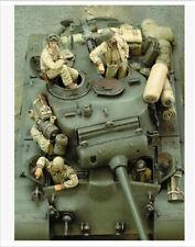 1/35 Resin Figure Model M26 Pershing Heavy Tank Crew US Soldiers WWII 4 Figures