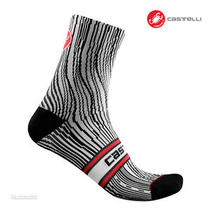 Castelli ILLUSIONE 10 Cycling Socks : BLACK/WHITE - One Pair