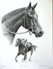 RUFFIAN Champion Filly- Limited Edition Print- Horse Racing Art FREE SHIP