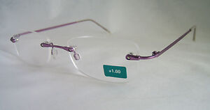 READY READING GLASSES SPECTACLES RX +1.00 TWO OPTICS DESIGNER BNWT