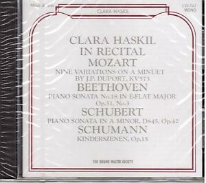 Clara Haskil In Recital: Mozart, Beethoven, Schubert, Schumann - CD