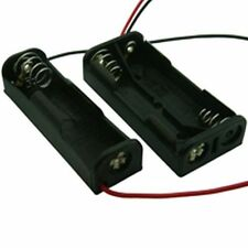 1 x AA Battery Holder Box With Flying Lead (Pack of 2)