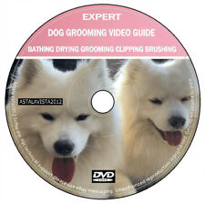 Dog Grooming Video Guide Expert Tuition Clipping Bathing Drying Brushing DVD