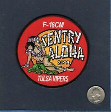 125th FS SENTRY ALOHA Tulsa OK ANG USAF F-16 F-16CM FALCON Squadron Patch