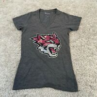 Vintage CHAMPION Womens T Shirt Small Grey Tiger Sports Tee