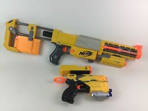 Nerf Gun NStrike Recon CS6 with Stock Clips Extended Barrel Red Dot and Pistol