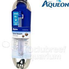 Aqueon Siphon Vacuum Aquarium Gravel Vac Cleaner Extender & Bucket Clip 5-15gal