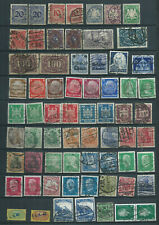 Lot Deutsches Reich and some war stamps China Belgium old Bayern cancels