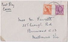 Stamps 2d violet Kgv1 uprated 1/2 kangaroo first day issue Picao postmark scarce