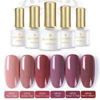 6 pcs/set Pale Mauve UV Gellack Kit UV LED Lamp Manicure Gel Polish BORN PRETTY