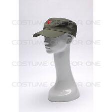 CAMERAMAN CAP CAPPELLO VERDE CON STELLA ROSSA Badge per Nikon Canon Sony Hasselblad