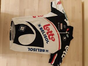 LOTTO BELISOL Pro Team Vermarc Cycling Jersey Size S-2-46 Made in Italy USED