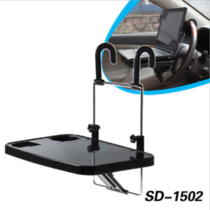 Car Seat Back Mount Tray Table Foldable Laptop Notebook Desk Food Drink Cup Hold